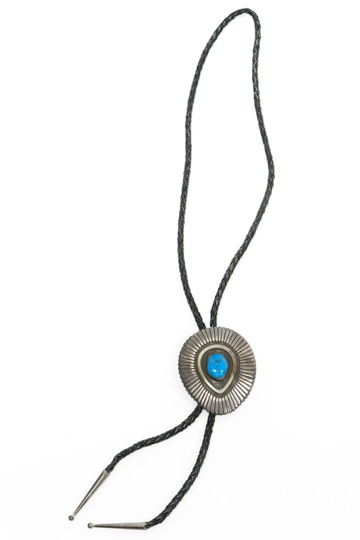 Bolo Tie with Turquoise Style Stone.