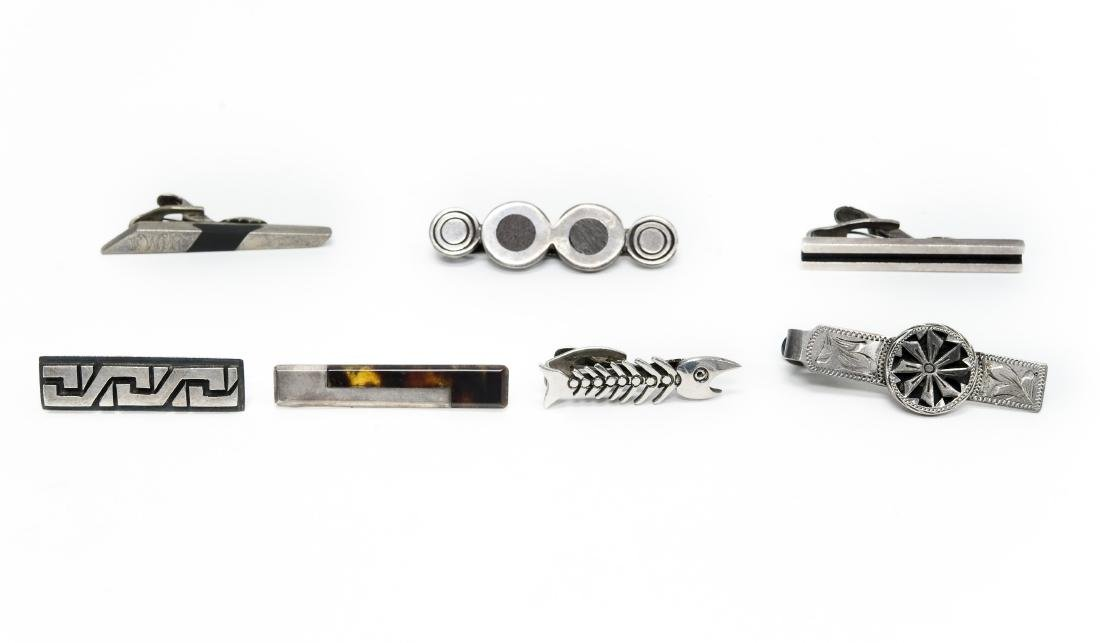 (6) Mexico Sterling Silver Tie Bars.