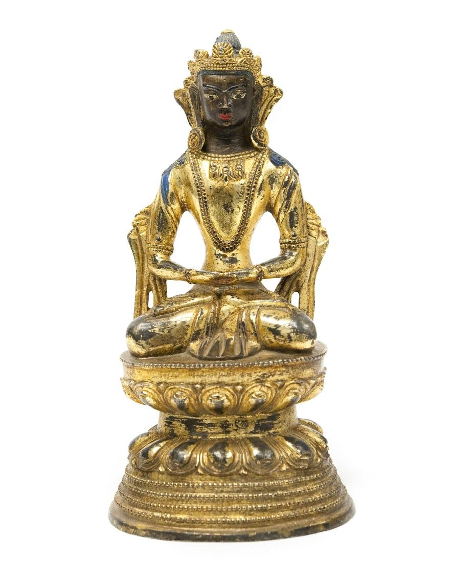 Asian Gilt Bronze Seated Figure.