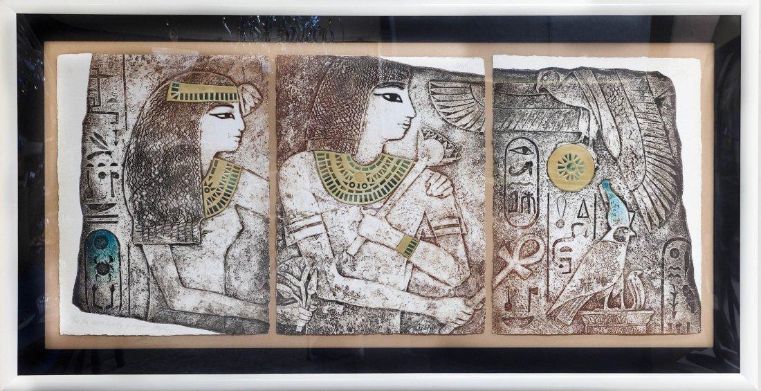 Mikulas Kravjansky Intaglio Triptych.
