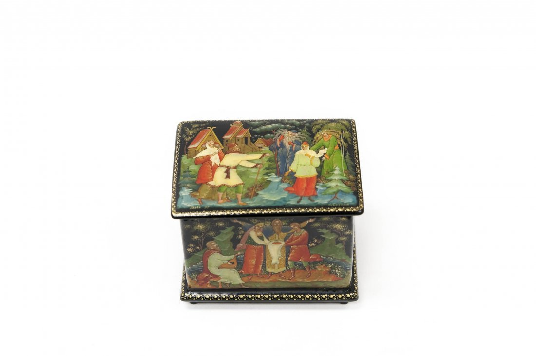 A. Sokolov Palekh Russian Lacquer Box.