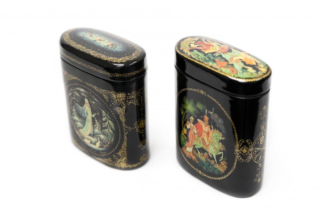 (2) Kholui Russian Lacquer Boxes.