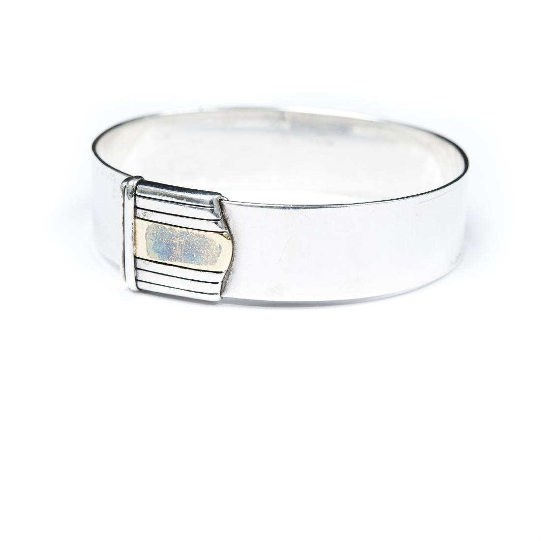Cartier Sterling Silver & Gold Cuff Bracelet.