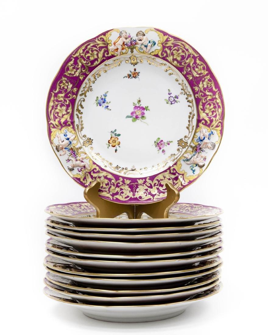 (12) Capodimonte Porcelain Cabinet Plates.