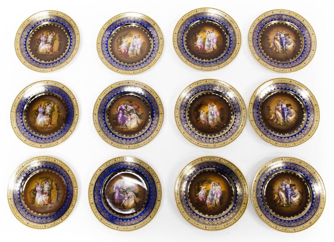 (12) Czechoslovakian Porcelain Dessert Plates.