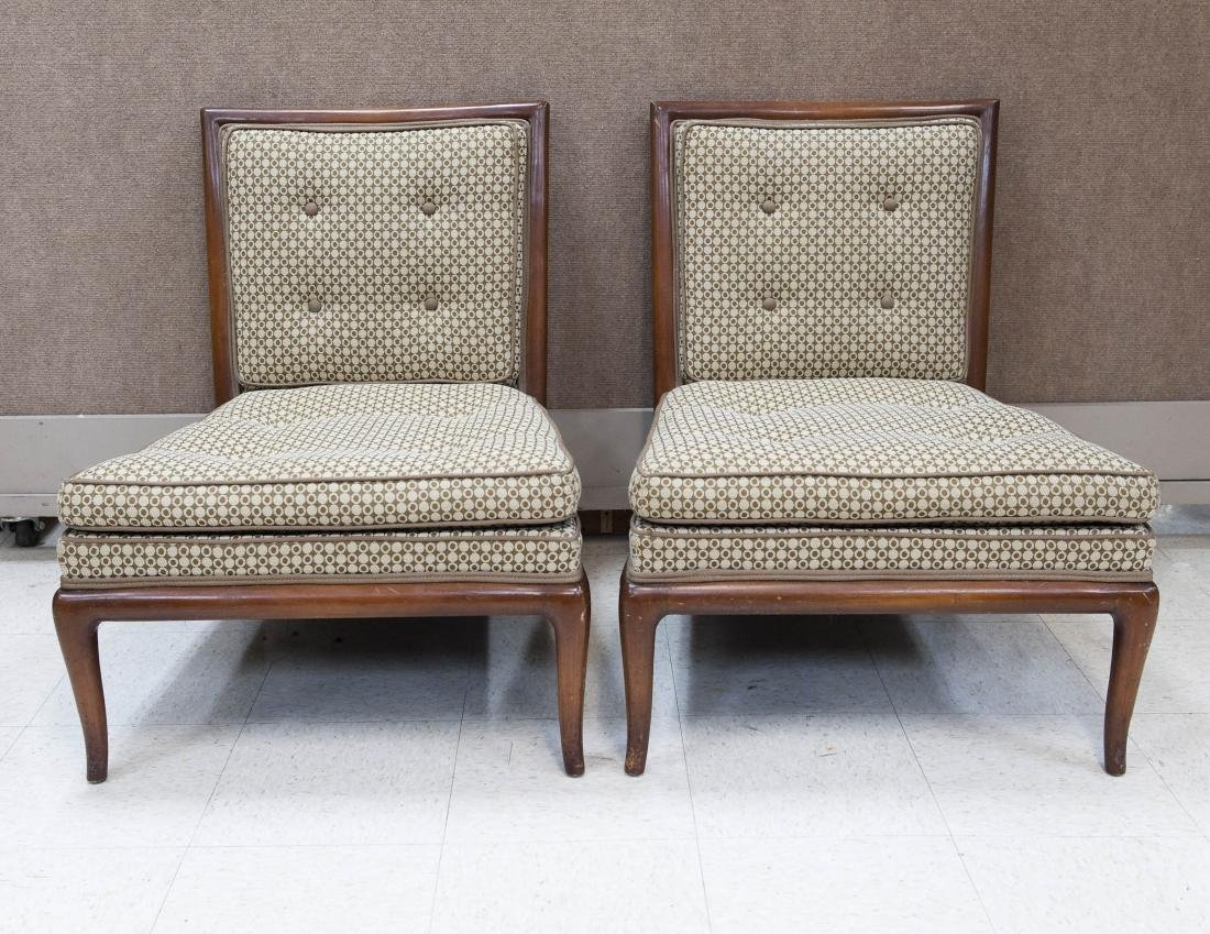 Pair of mid 20th C. Side Chairs w/ Modernist
