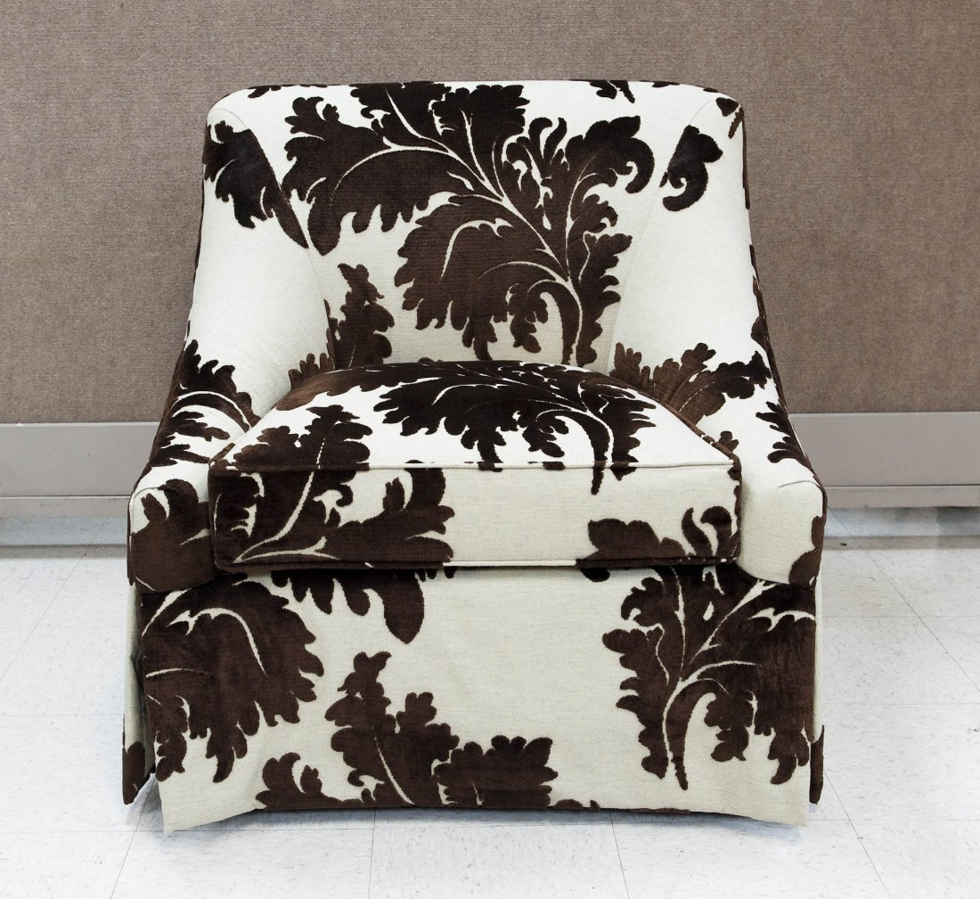 Wesley Hall Contemporary Upholstered Armchair.