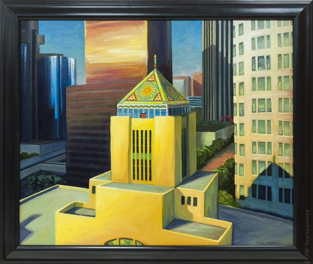 Tony Peters Oil on Canvas Mounted on Board.