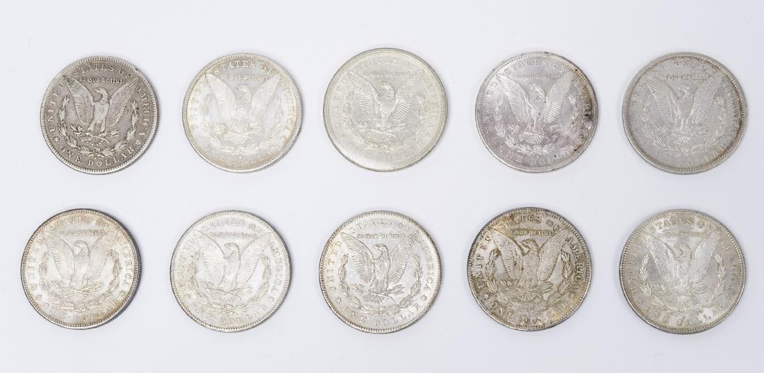 (10) Morgan Silver Dollars. 1878 & 1879. - 2