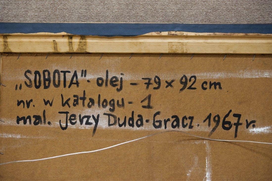 """Jerzy Duda Gracz Oil on Board, """"Sobota"""". - 10"""