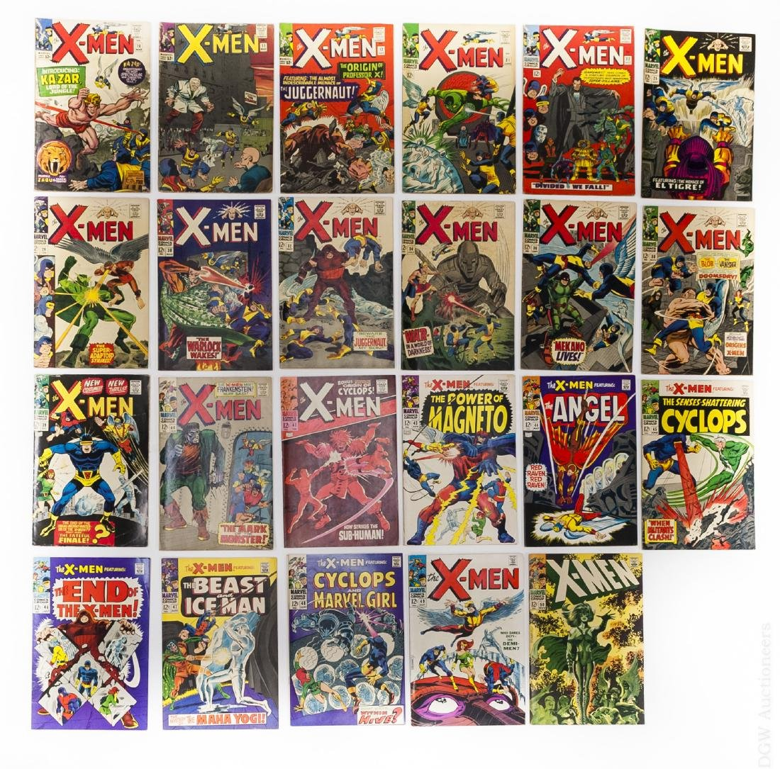 (23) Vintage Marvel X-Men Comics.