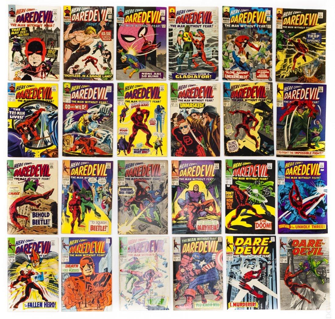 (24) Vintage Marvel Daredevil Comics.