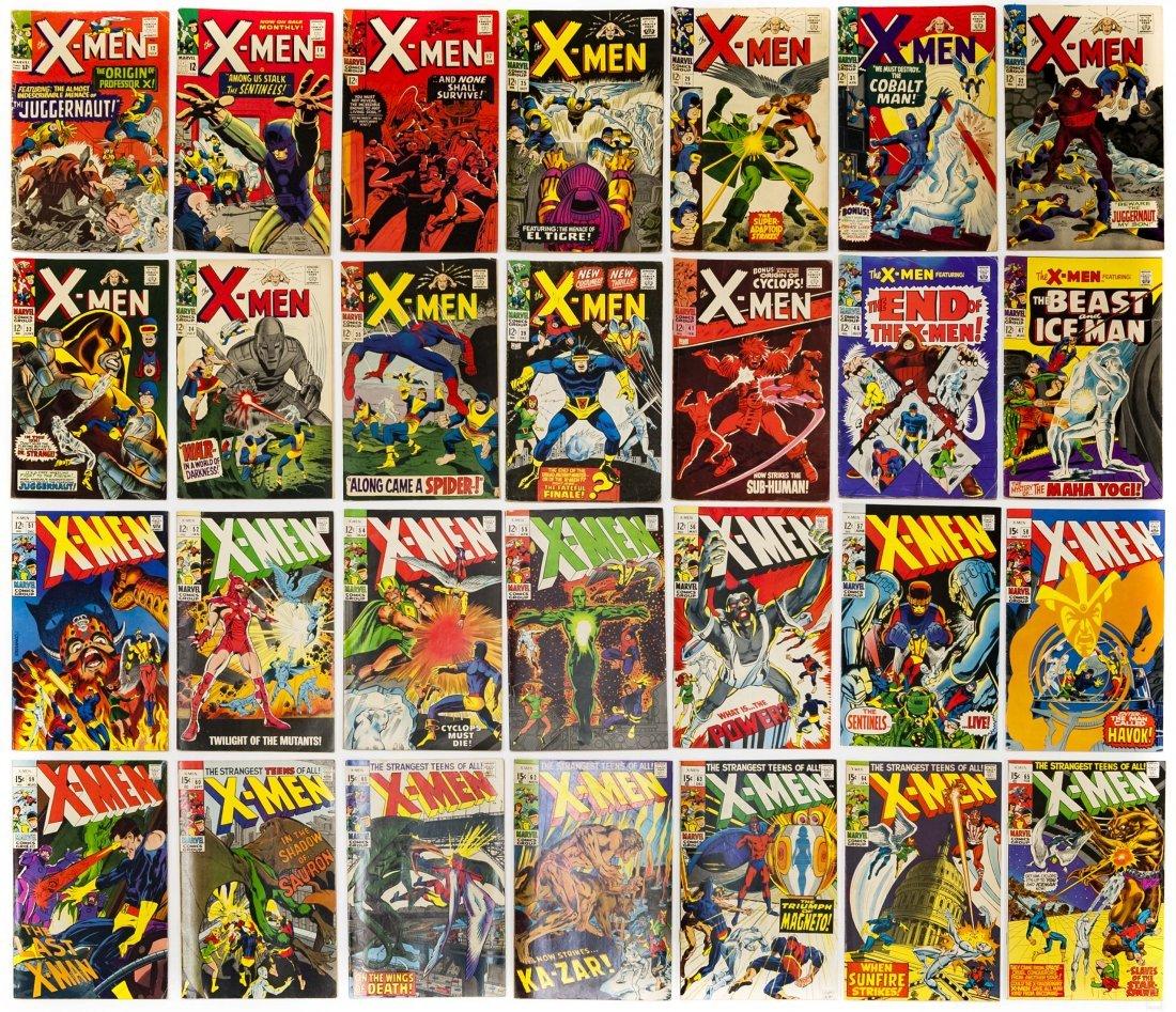 (28) Vintage Marvel X-Men Comics.