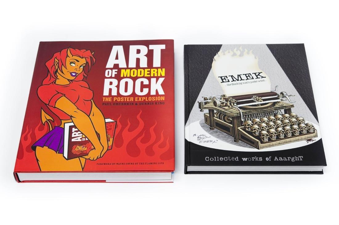 """(2) Volumes; """"Works of Aaarght"""" & """"Art of Modern Rock""""."""