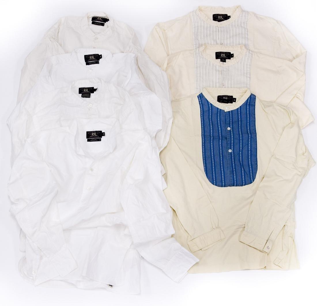 (7) Ralph Lauren RRL Cotton Shirts.