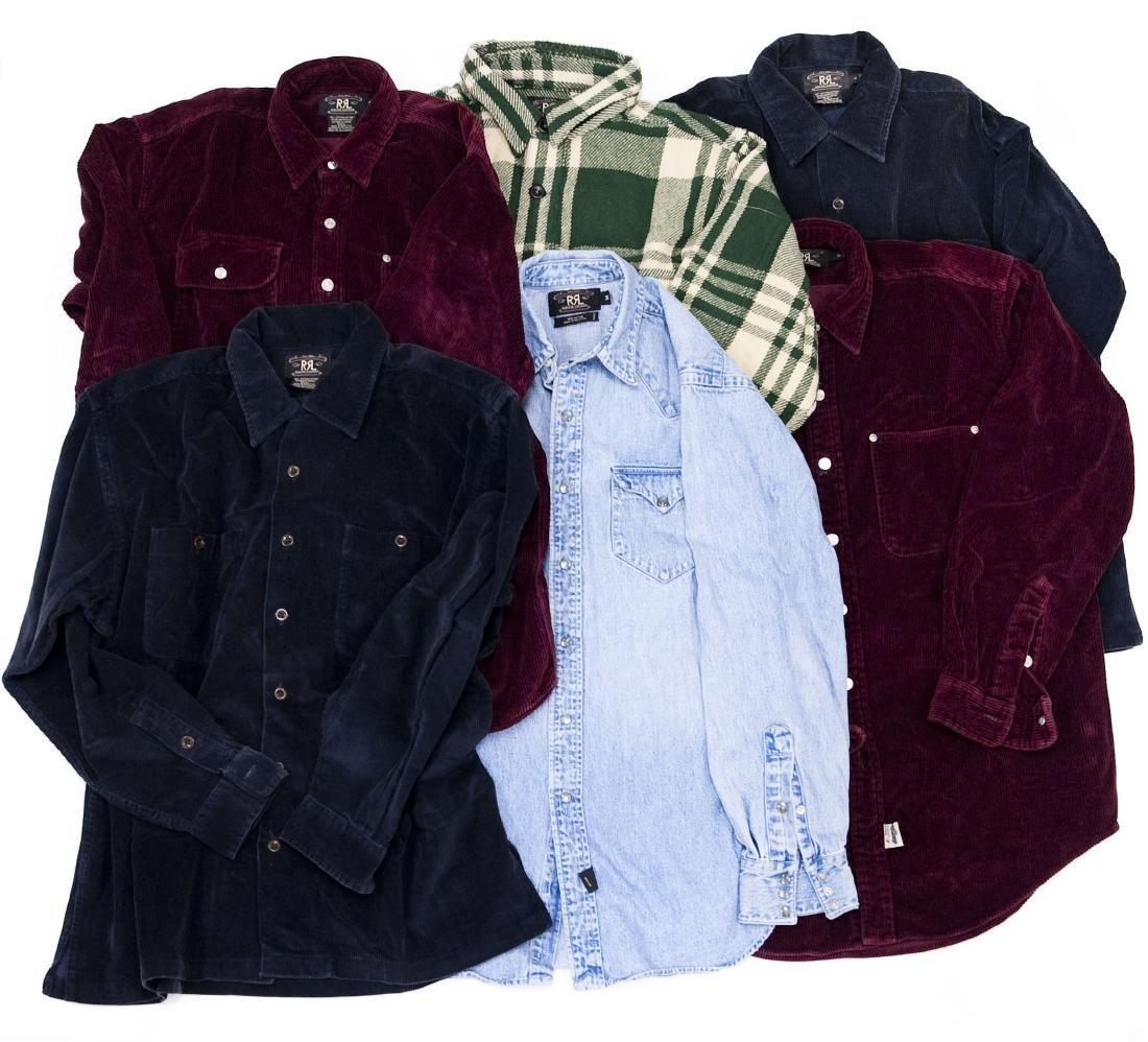 (6) Ralph Lauren RRL Men's Shirts.