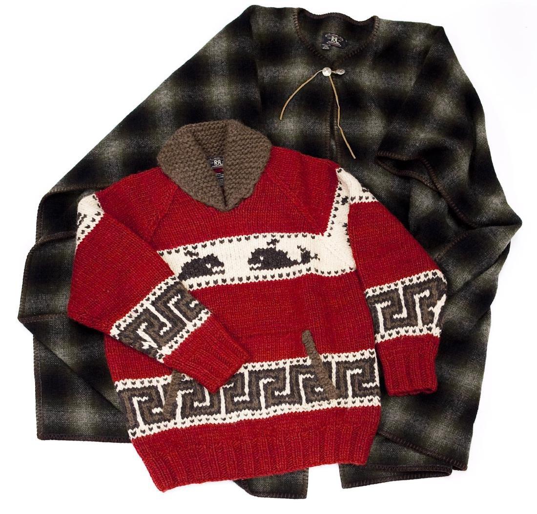 Ralph Lauren RRL Wool Poncho & Sweater.