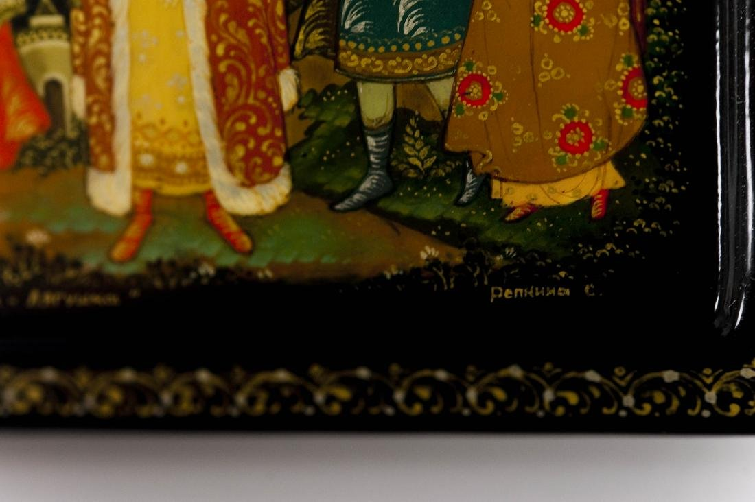 (2) Palekh Russian Lacquer Boxes. - 10