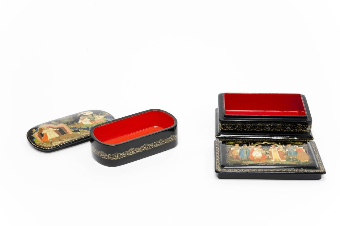 (2) Palekh Russian Lacquer Boxes. - 2