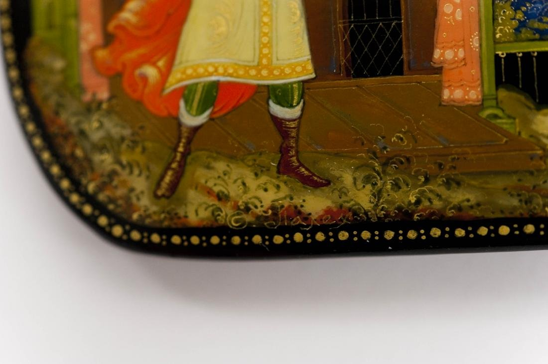 (2) Palekh Russian Lacquer Boxes. - 5