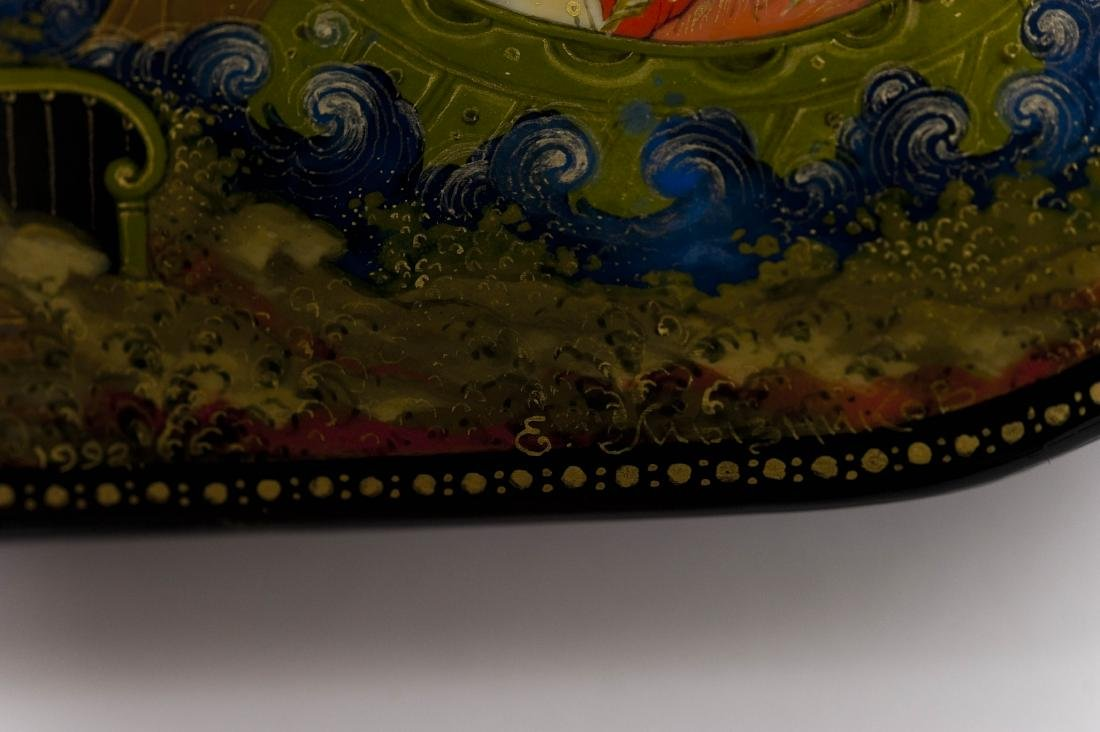 (2) Palekh Russian Lacquer Boxes. - 7