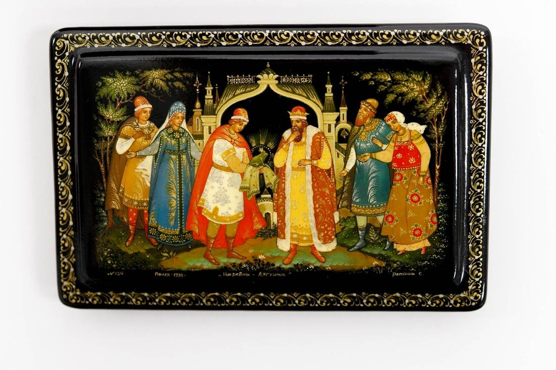 (2) Palekh Russian Lacquer Boxes. - 8