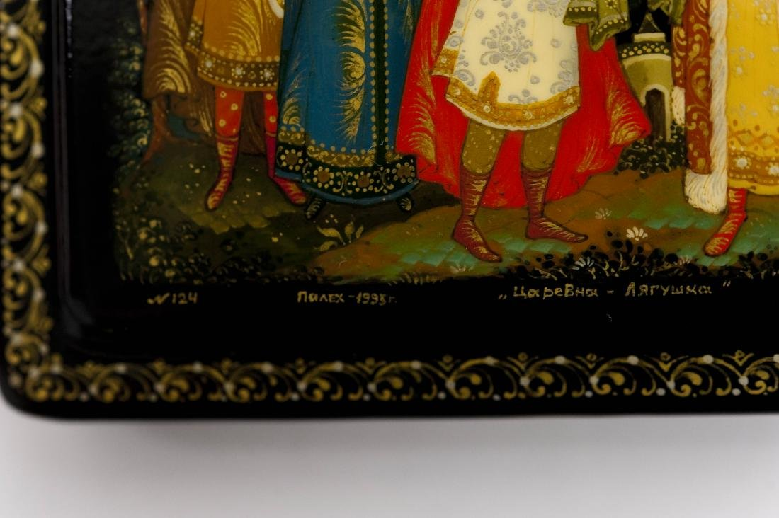 (2) Palekh Russian Lacquer Boxes. - 9