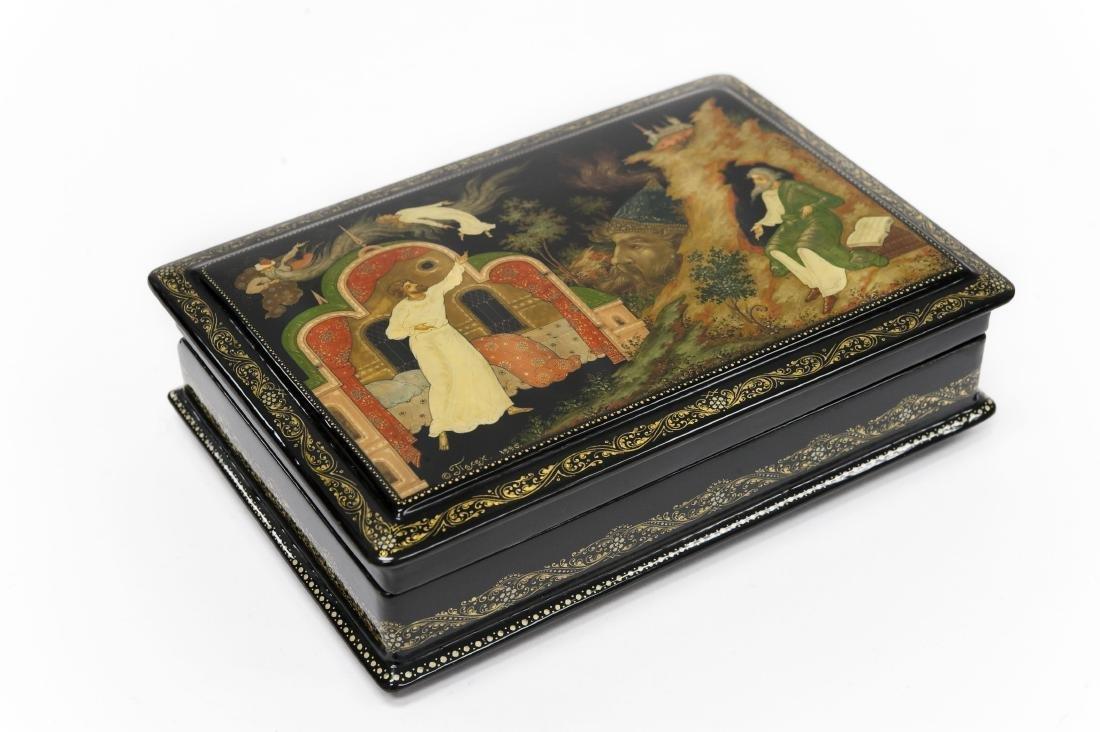 Myshnikov Palekh Russian Lacquer Box.