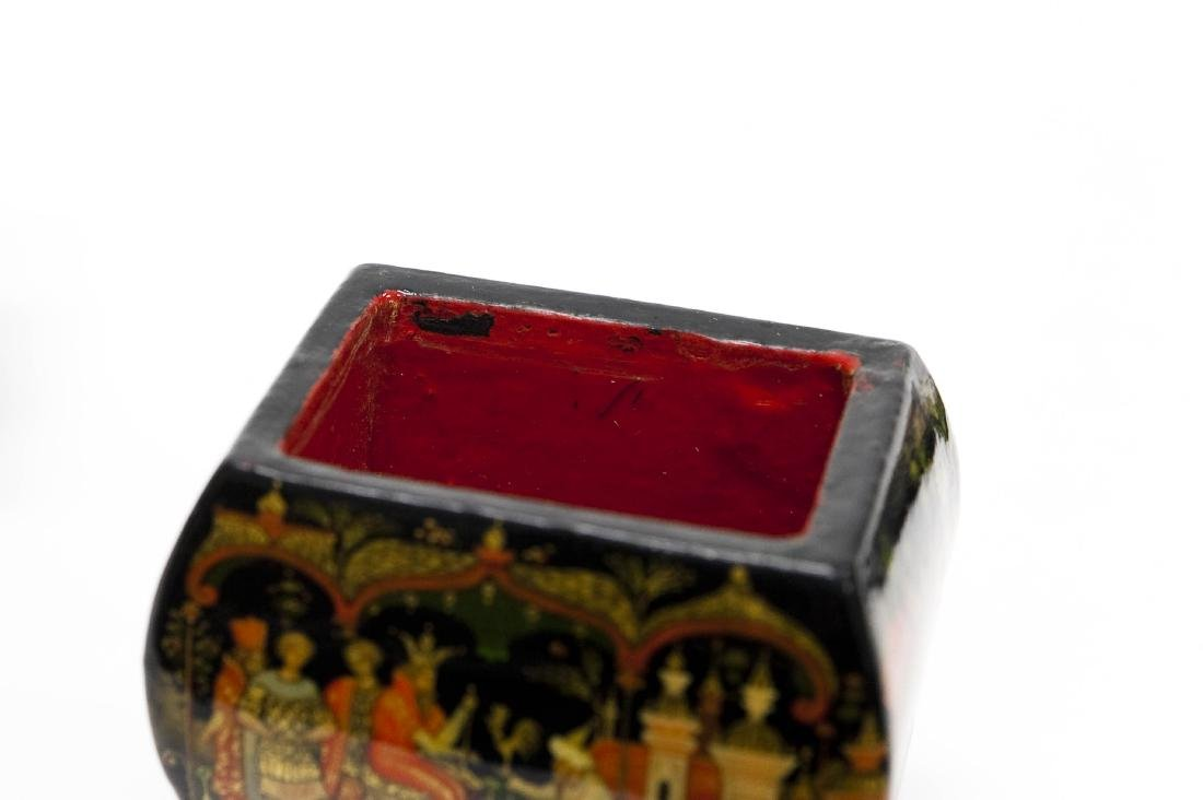 (2) Palekh Russian Lacquer Boxes. - 4