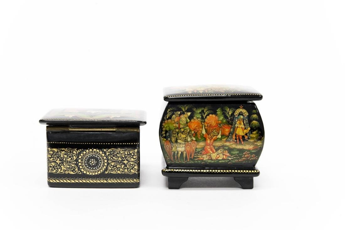 (2) Palekh Russian Lacquer Boxes. - 6
