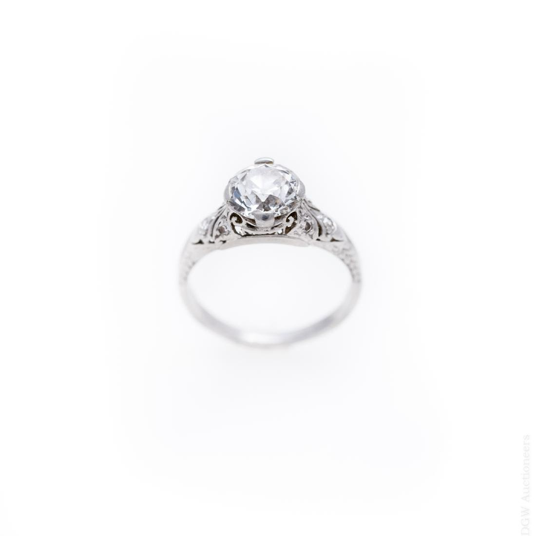 Lady's Platinum & Diamond Solitaire Ring.