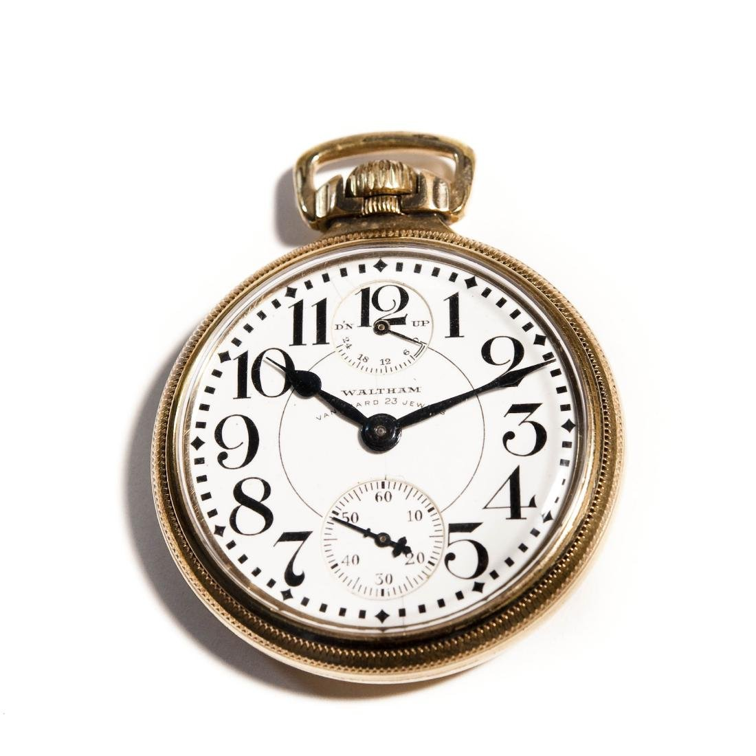 Waltham Vanguard Gold Filled Pocket Watch.