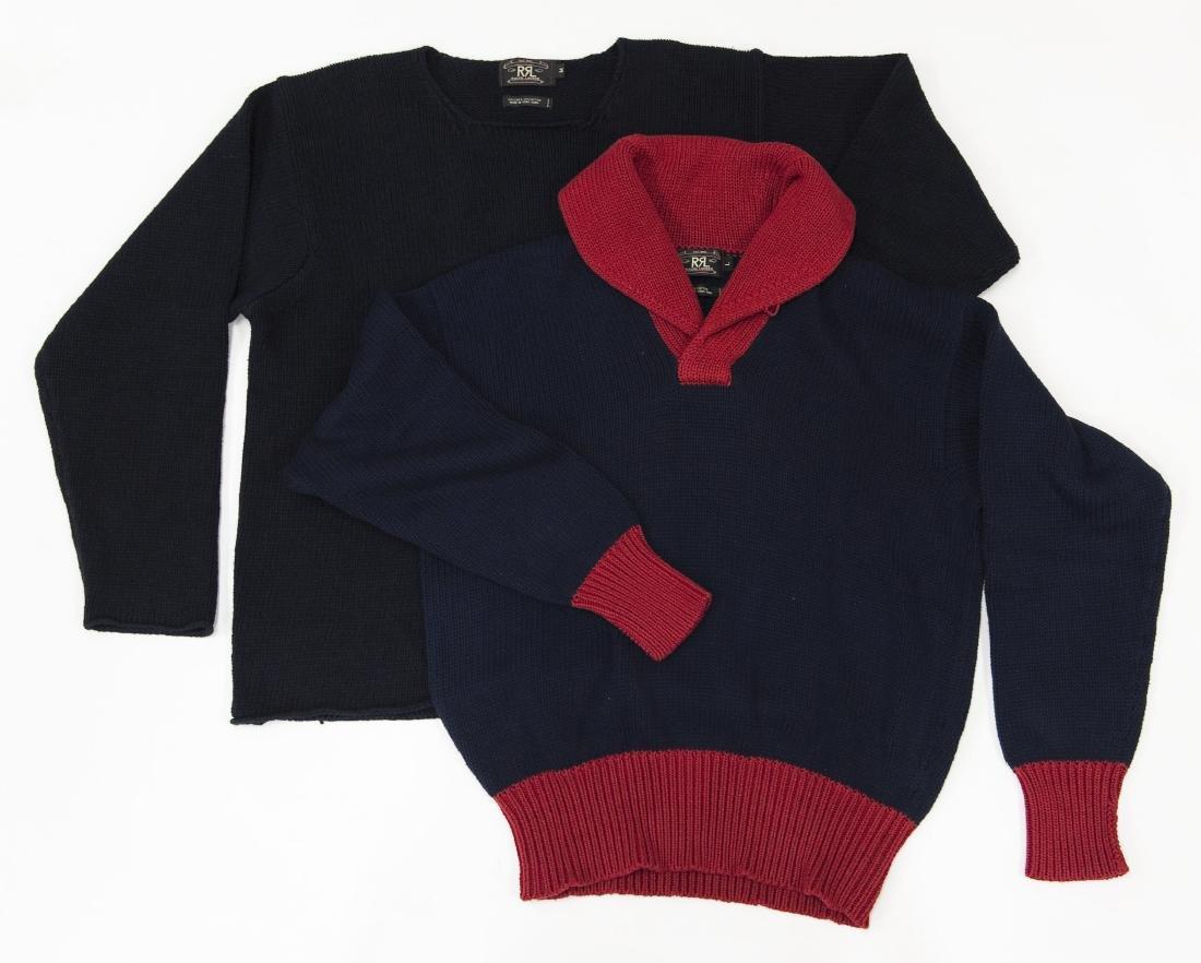 (2) Ralph Lauren RRL Sweaters.