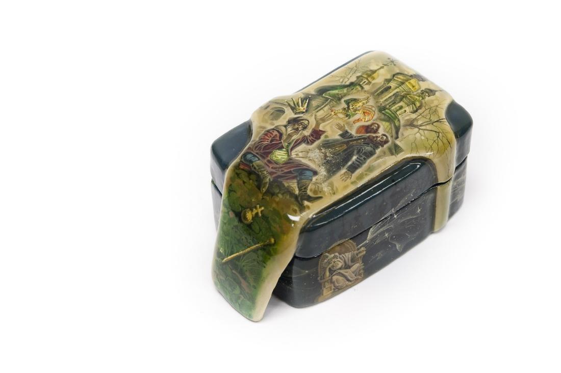 Solodilov Fedoskino Russian Lacquer Box.