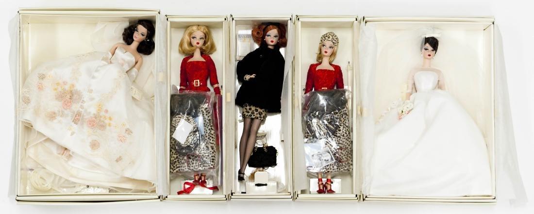 (5) Fashion Model Barbie Dolls.