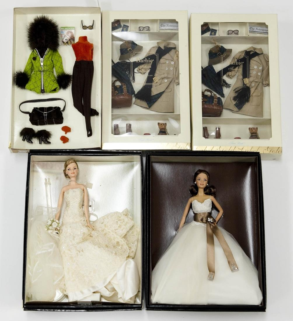 (2) Barbie Dolls & (3) Outfits.