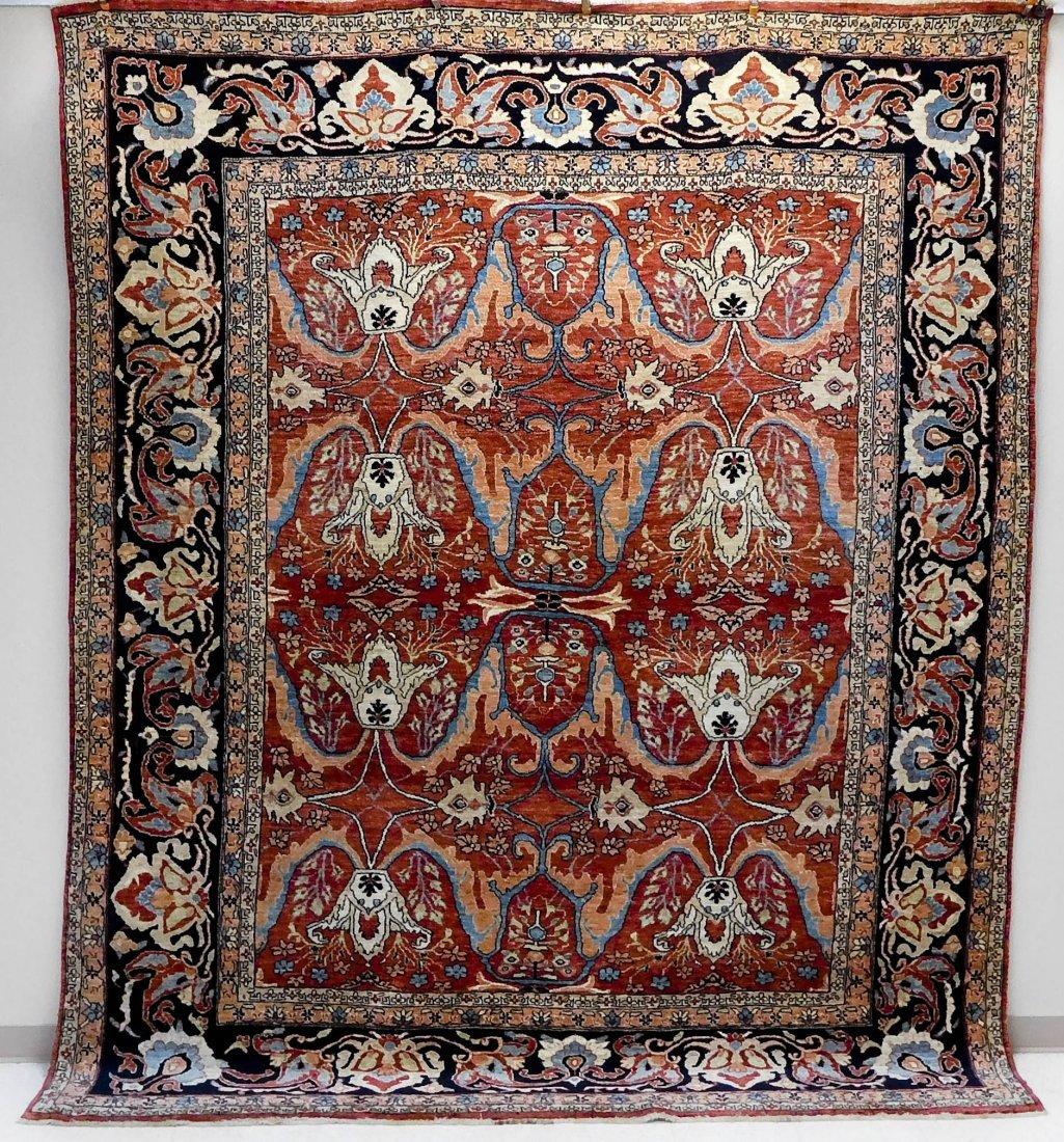 Persian Bijar Hand Knotted Rug.
