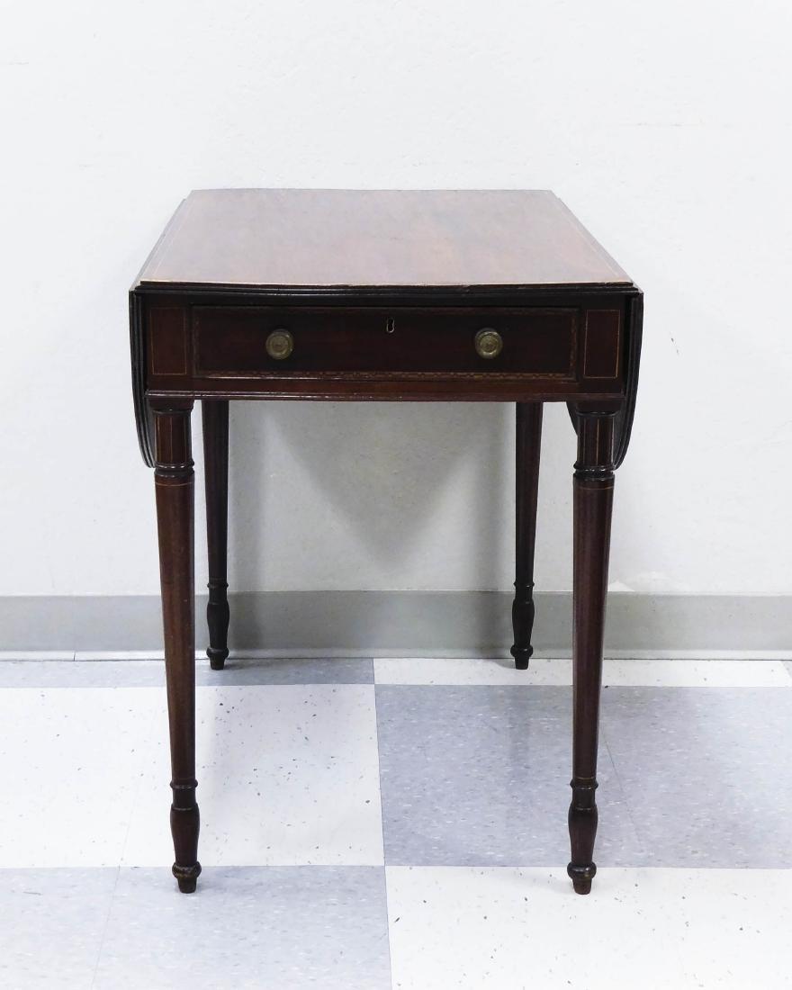 Late 19th C. Mahogany Pembroke Table.