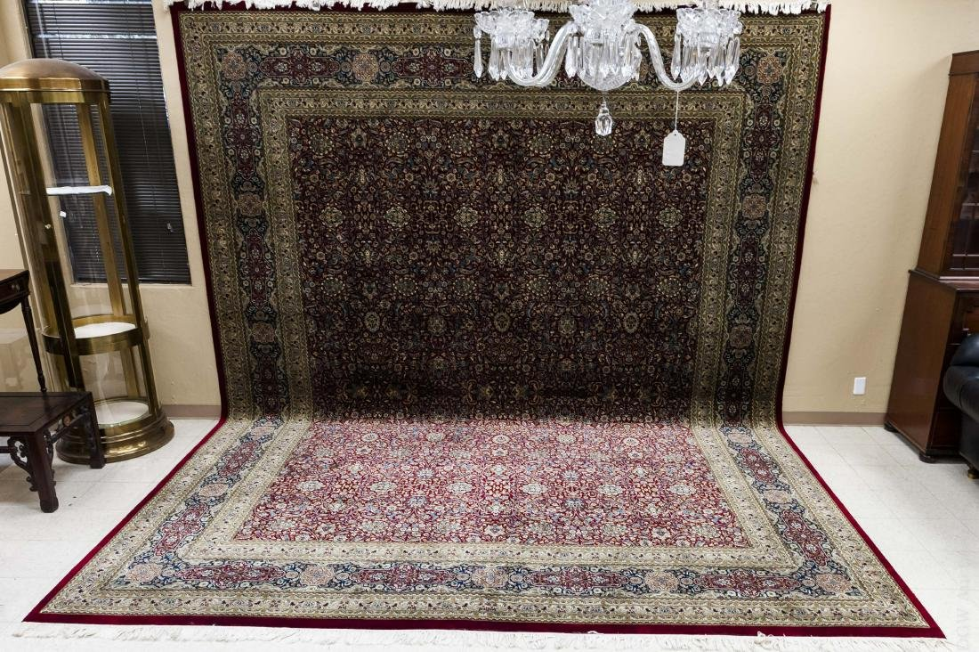 Persian Hand Knotted Large Rug.