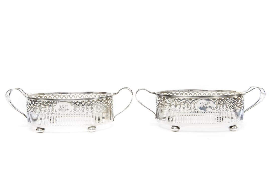 Pair Of Sterling Silver Entre Dish Stands. (For Tiffany