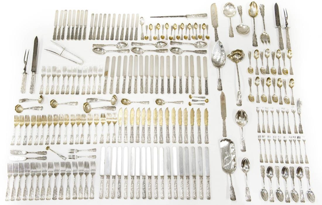 "Gorham ""St. Cloud"" Sterling Silver Extensive Flatware."