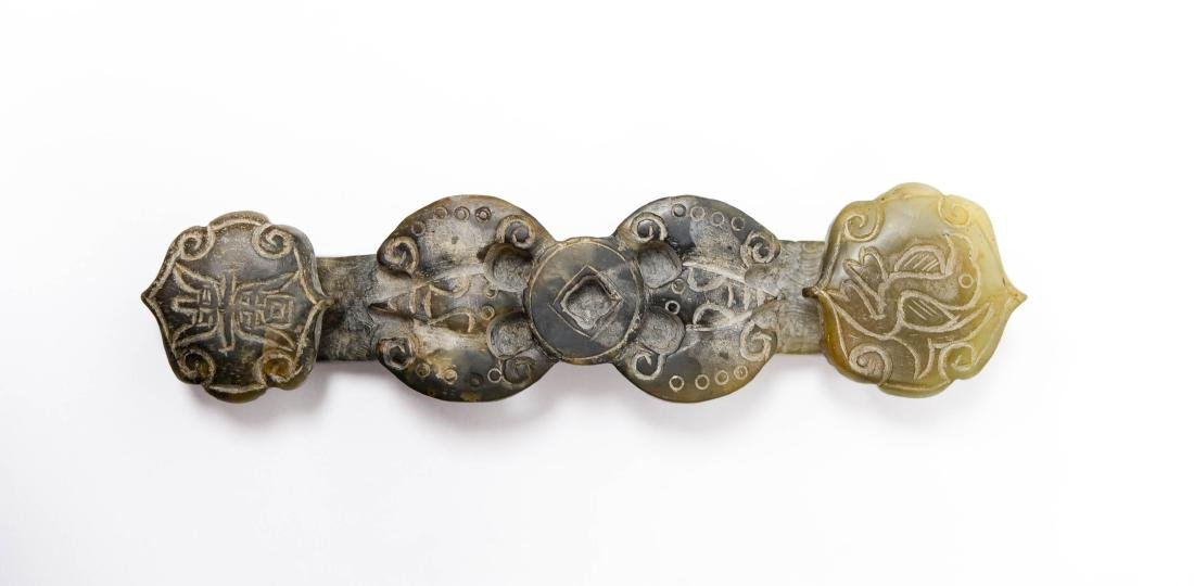 Chinese Carved Jade Buckle. - 3