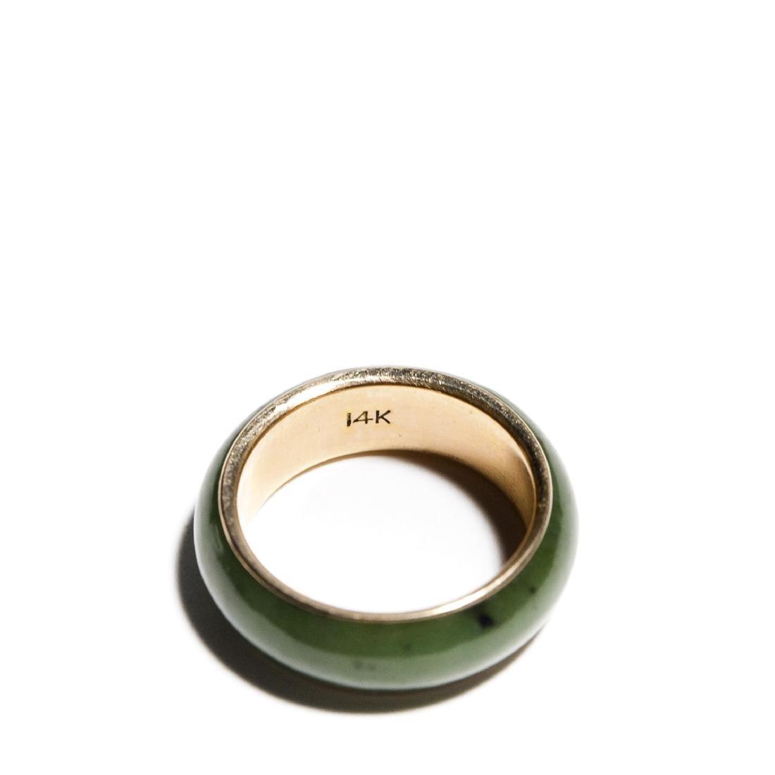 Group Of 5 Jade Rings. - 4