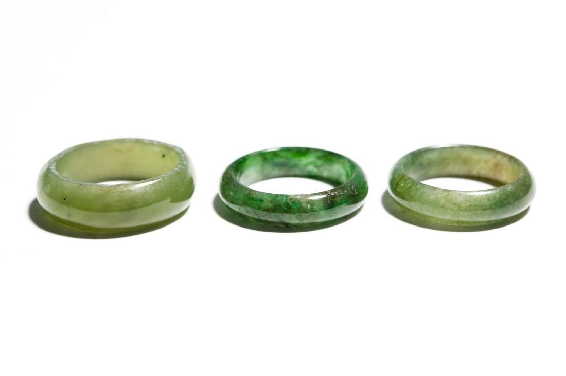 Group Of 5 Jade Rings. - 7