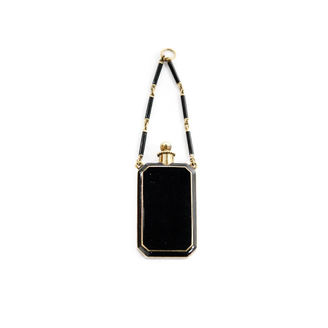 Tiffany & Co. 14K Enameled Perfume / Vinaigrette.