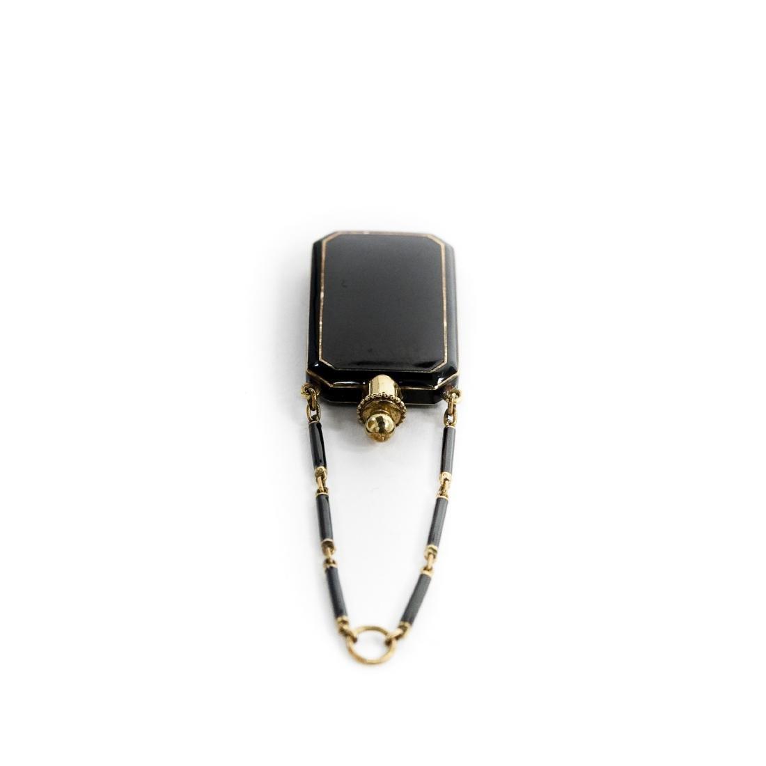 Tiffany & Co. 14K Enameled Perfume bottle/Vinaigrette. - 2