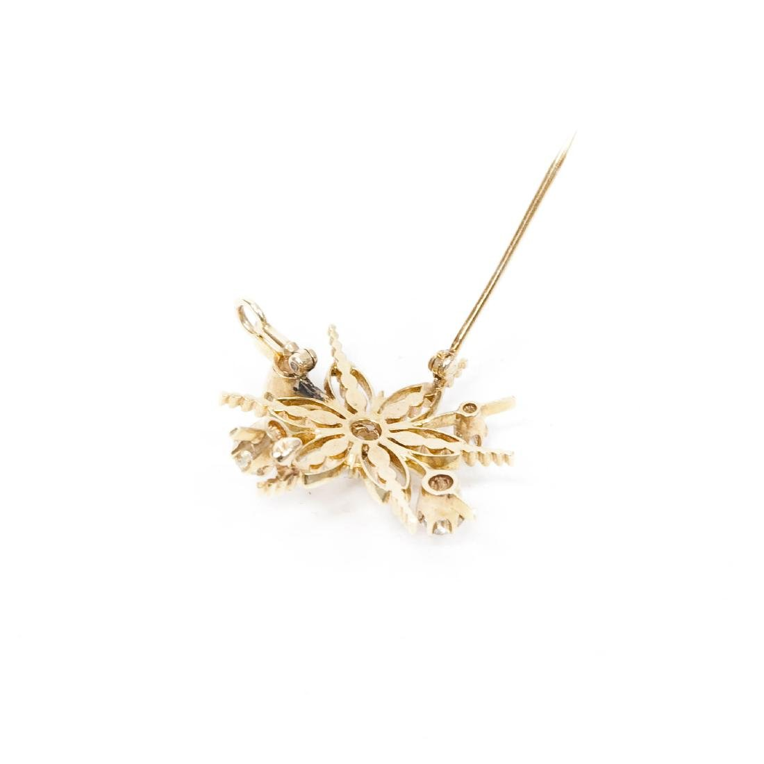 Gold And Diamond Pendant / Brooch. - 2
