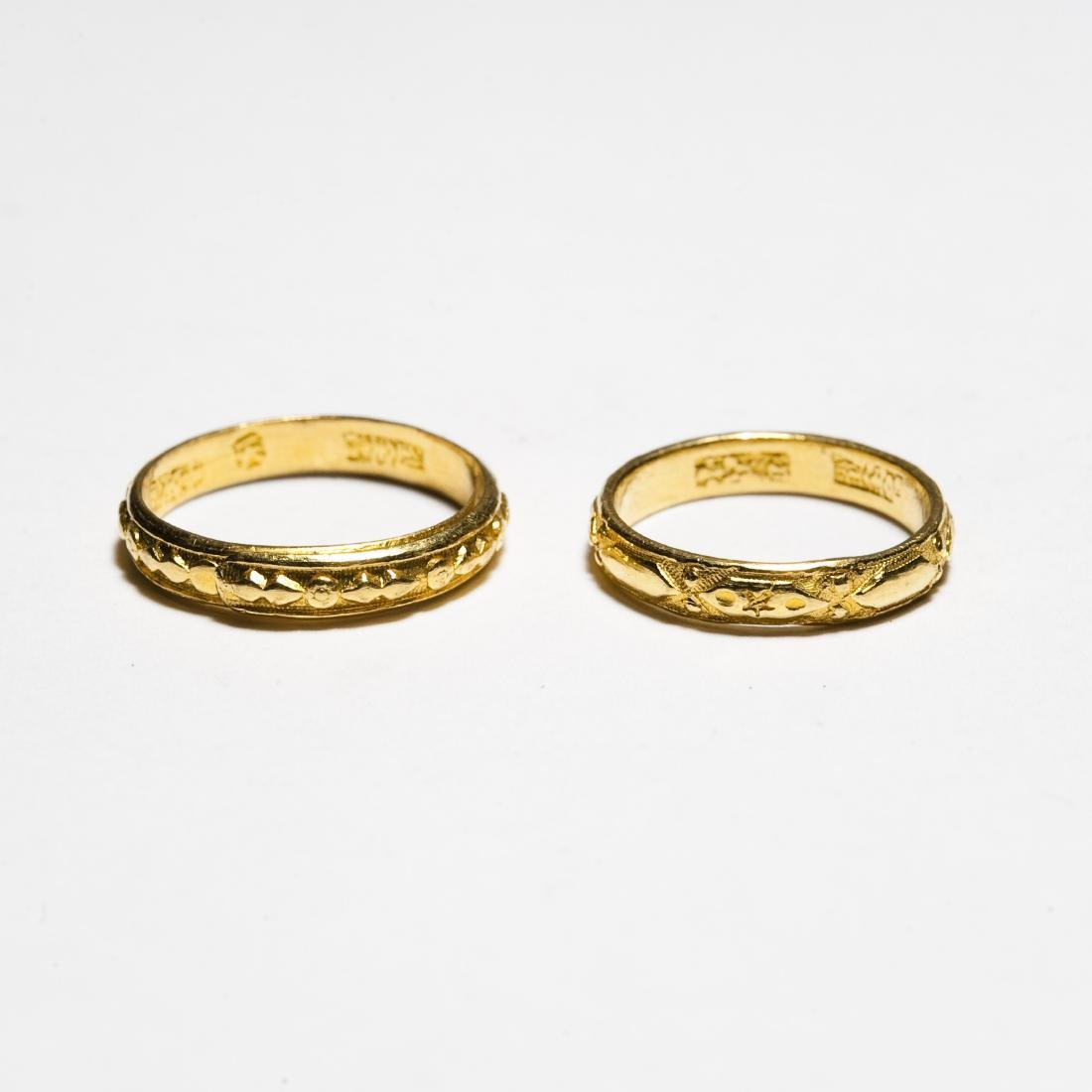 (2) Chinese Gold Bands. - 2
