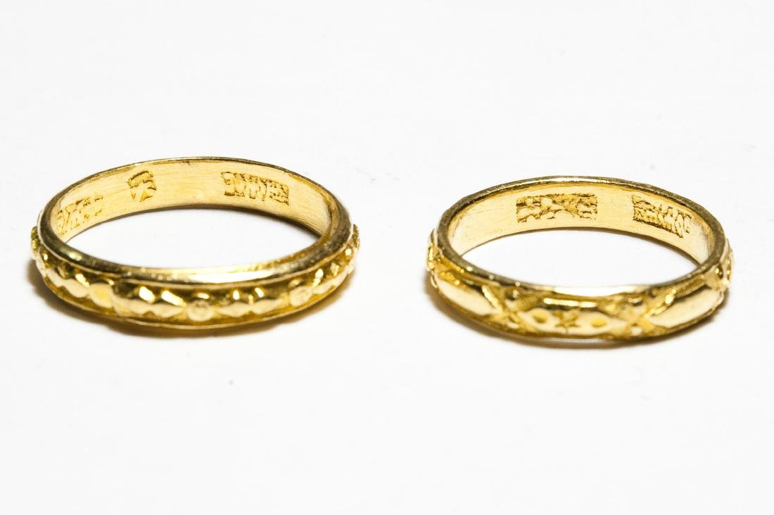 (2) Chinese Gold Bands. - 3