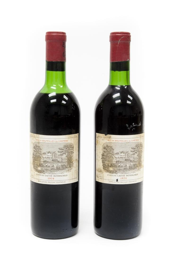 (2) Bottles Of 1970 Chateau Lafite Rothschild.